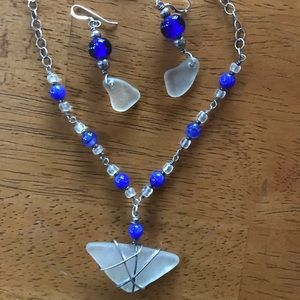 Authentic Seaglass Necklace Sterling Silver